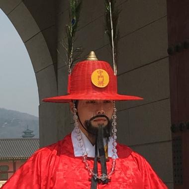 A guard at the main gate.